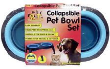 ** Collapsible PET BOWL SET 500ml Nuevos ** apta para viajar al aire libre Gato O Perro