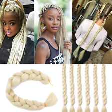 "41"" 165g/pcs Kanekalon Jumbo Braid Crochet Synthetic Hair Extensions 613# Blonde"