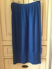 Ted Lapidus Royal Blue Knit Skirt Size L
