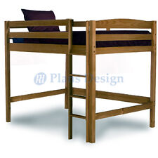 Full Loft Bunk Bed Woodworking Plans Design #1204, Drawings Included