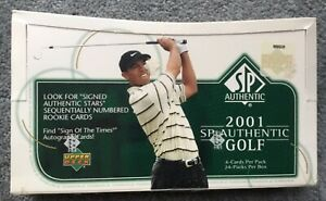 2001 Upper Deck SP Authentic Golf Hobby Box Tiger Woods Rookie Autograph Card?