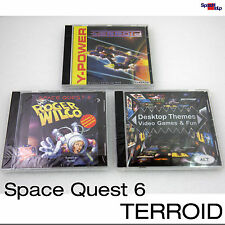 DOS WINDOWS 95 98 GAMES SPIELE SPACE QUEST 6 ROGER WILCO TERROID THEMES DESKTOP