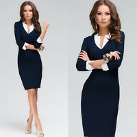 Elegant Women Office Lady Formal Wear Business Work Party Pencil Dress Suit OL