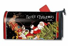 Magnet Works Mailwraps Santa's Sleigh Original Magnetic Mailbox Wrap Cover