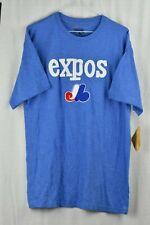 NWT Montreal Expos Baseball Blue T Shirt Sewn Logo Mens Size Medium Cooperstown