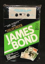James Bond Books on Cassette - Ian Fleming's Goldfinger - Ogilvy (Sealed) 1985