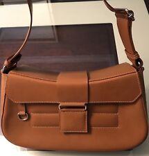 Noi Ferenze Leather Shoulder Bag Made in Italy Tan Medium