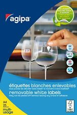 [Ref:119645] AGIPA Etui de 4725 étiquettes 25,4x10 mm (189 x 25F A4)