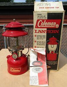 COLEMAN MODEL 200A SINGLE MANTLE LANTERN MADE IN DEC 1964 ALL ORIGINAL RESTORED