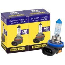 Duo Set BREHMA Premium H8 Super Vision Ultra +80% mehr Licht Autolampe 12V 35W