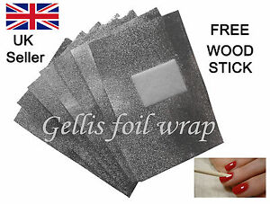 Nail Foil Wraps for Removal of all makes of UV/Led Soak Off Gel Polish