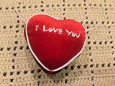 "4"" x 4"" x 2"" Build a Bear Plush ""I Love You"" Plush Red Heart  - EUC"""