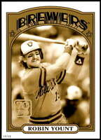 Robin Yount 2021 Topps 5x7 70 Years of Topps Baseball Gold #70YT-22 /10 Brewers