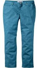 NEU Damen Chino Hose Petro grün blau türkis Stretch 5 Pocket Lang Gr. 112 (56)