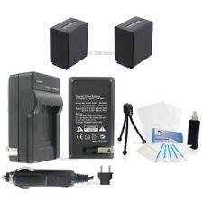 NP-FV90 Battery x2 + Charger for Sony HDR-PJ10 PJ760V PJ580V PJ200 PJ26V
