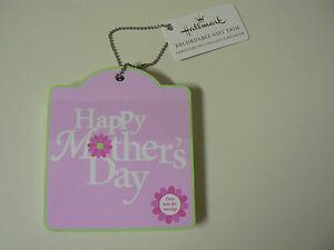 Hallmark HAPPY MOTHER'S DAY Recordable Gift Trim RECORD PERSONAL MESSAGE - NEW