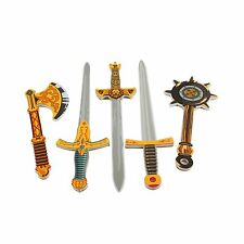Gladiator Warrior Foam Swords & Weapons 5 Pack Extra Large Toy ... Free Shipping