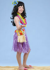Kids Size Purple Hawaiian Grass Skirt