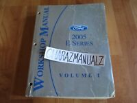 2005 FORD E-Series Service Manual OEM VOLUME 1 ONLY