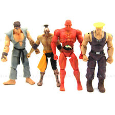 Lot 4PCS JAZWARES STREET FIGHTER RED SETH GUILE RYUACTION 4'' FIGURE Xmas Gift