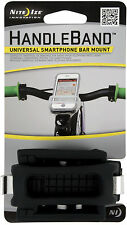 Nite Ize Handle Band Universal Smartphone Bar Mount Black Silicone HDB-01-R3 NEW