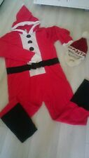 Men's Santa Claus Costume Christmas Fancy Dress hat Outfit size M used once