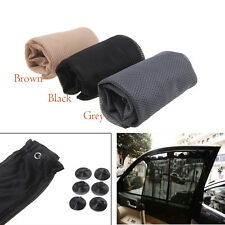 Car Van Suction Cup Window Sun Shade Curtain Anti-UV Black/Grey/Brown 48*74cm
