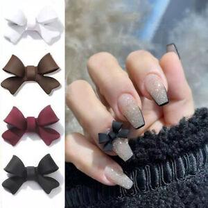 20pcs Bowknots Nail Art Decor3D Lovely Resin Bow Ornaments Gel Manicure-