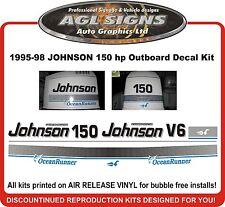 1995 - 98 JOHNSON 150 OCEAN RUNNER DECAL KIT REPRODUCTION 120 140 175 HP