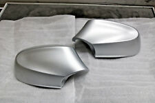 PAIR OF GENUINE BMW 1 SERIES E87 WING MIRROR CAPS MATTE SILVER M SPORT