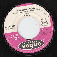 """7"""" 45 TOURS JUKEBOX FRANCE FRANCOISE HARDY """"Voilà / Qui Peut Dire"""" 1967 YE-YE"""