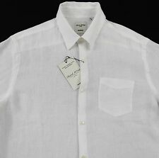 Men's MURANO White Linen Shirt Large L NEW NWT Classic!