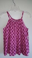 Old Navy Girls 6-7 8 10-12 14 Dressy Tiered High Neck Swing Tank Top PINK #10417