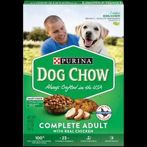 Purina Chow Complete Adult Dog Food W/ Chicken 2 Boxes 16 Oz Each Smart Choice