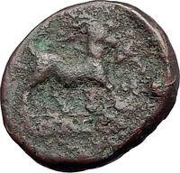 AIGAI in AEOLIS 2-1stCenBC Authentic Ancient Greek Coin APOLLO & GOAT i61563