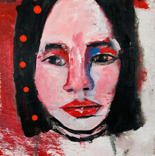 Original Outsider Art Portrait Painting Right Thing To Do Katie Jeanne Wood