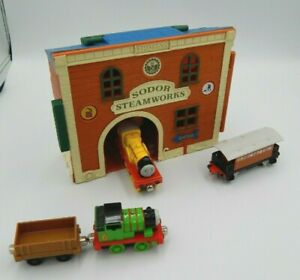 Thomas The Tank Engine Fold Out Sodor Steam Works Gullane Percy, Molly (BE-91)