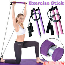 Portable Pilates Bar Kit Resistance Band Exercise Stick Drawbar Home Yoga Gym