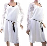 Robe femme habillée ceinture grande taille 52 54 Blanc SKYFALL ZAZA2CATS