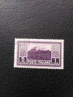 Italy #237 Used, 1929 5 l + 2 l Value from Monte Casino Set, Scott Catalog $ 175