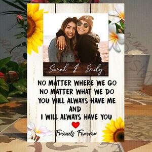 Personalised Moving Best Friend, Best Friend Gift, Photo  , Friendship Plaque