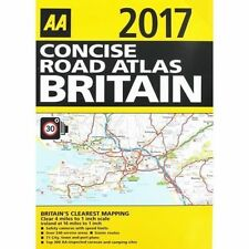 Concise Road Atlas of Britain: 2017 by AA Publishing (Spiral bound, 2016)