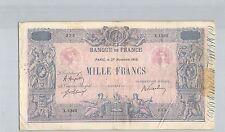 FRANCE 1000 FRANCS BLEU ET ROSE 27 NOVEMBRE 1919 X.1363 N° 34071235 PICK 67H