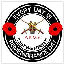 British Army Veterans classic Remembrance day Regimental Sticker