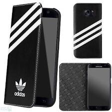 ADIDAS Book Case Samsung Galaxy Cellulare s7 g930 Cover Custodia Protettiva Borsa Nero