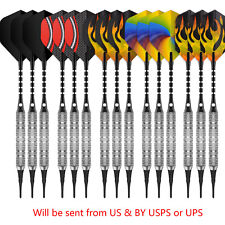 15PCS Soft tip darts 18g+180Tips+30Flights+15Aluminum shafts+O Rings-Cyeelife