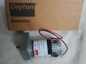 DAYTON 1LPV5A DC Gearmotor 12VDC, Nameplate RPM: 24, Max. Torque: 40.0 in.-lb
