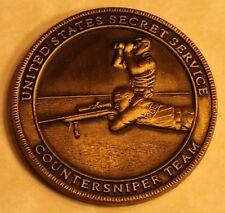 United States Secret Service Counter Sniper Brass Version Challenge Coin