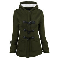 Women's overcoat thickened hooded blended jacket cotton padded jacket