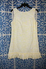 Lilly Pulitzer Yellow Embroidered Eyelet Ruffle Rosemary Dandelion Daisy Dress 8